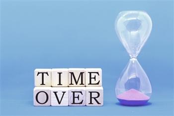 期限切れを知らせる砂時計
